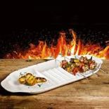 PLAT À SERVIR LES BROCHETTES BBQ PASSION (K DE CUISINE)