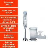 MSM 6250 = MIXEUR  BOSCH  = 400w  Plongeant , Pied INOX (SIRAM électroménager)