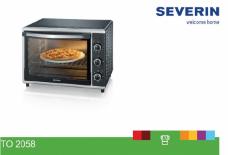 TO2058 = Mini Four SEVERIN  = rotissoire 42 Litres = 1800w = Pierre à pizza (SIRAM électroménager)