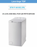 LAVE LINGE INDESIT  BTWPA 61052FR = 6 Kg 1000 Tr/mn D/Différé A++ (SIRAM électroménager)